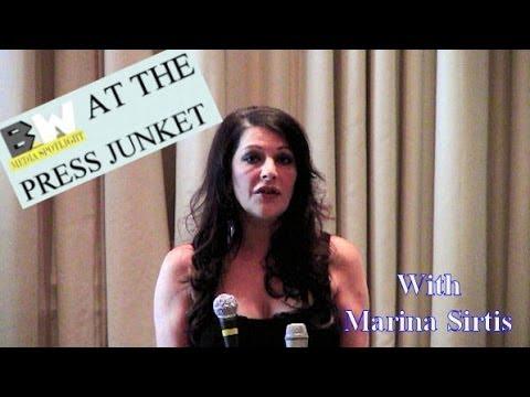 BW At The Press Junket with Marina Sirtis