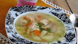 Рыбный суп из доступных ингридиентов!!!