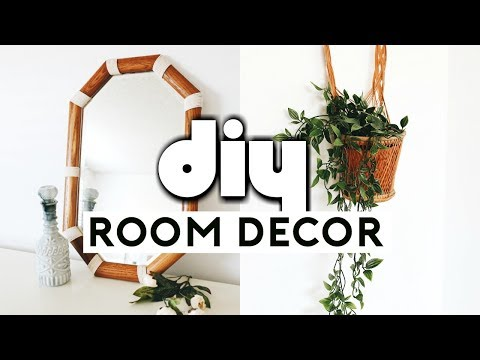 DIY ROOM DECOR MAKEOVER! Thrift Store Flip & Upcycle! Room Makeover 2019 | Nastazsa