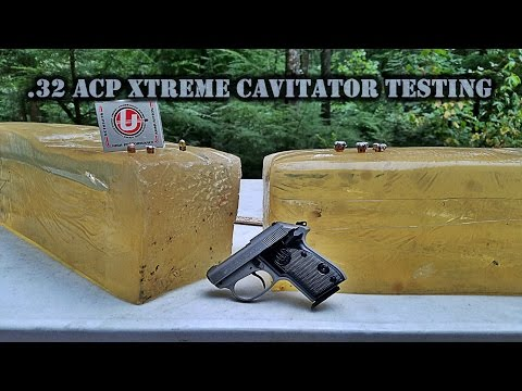 .32 ACP Xtreme Cavitator Ballistic Gel Testing