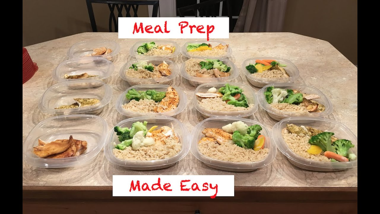 Meal Prep Made Easy: Chicken Breast, Brown Rice, And Vegetables