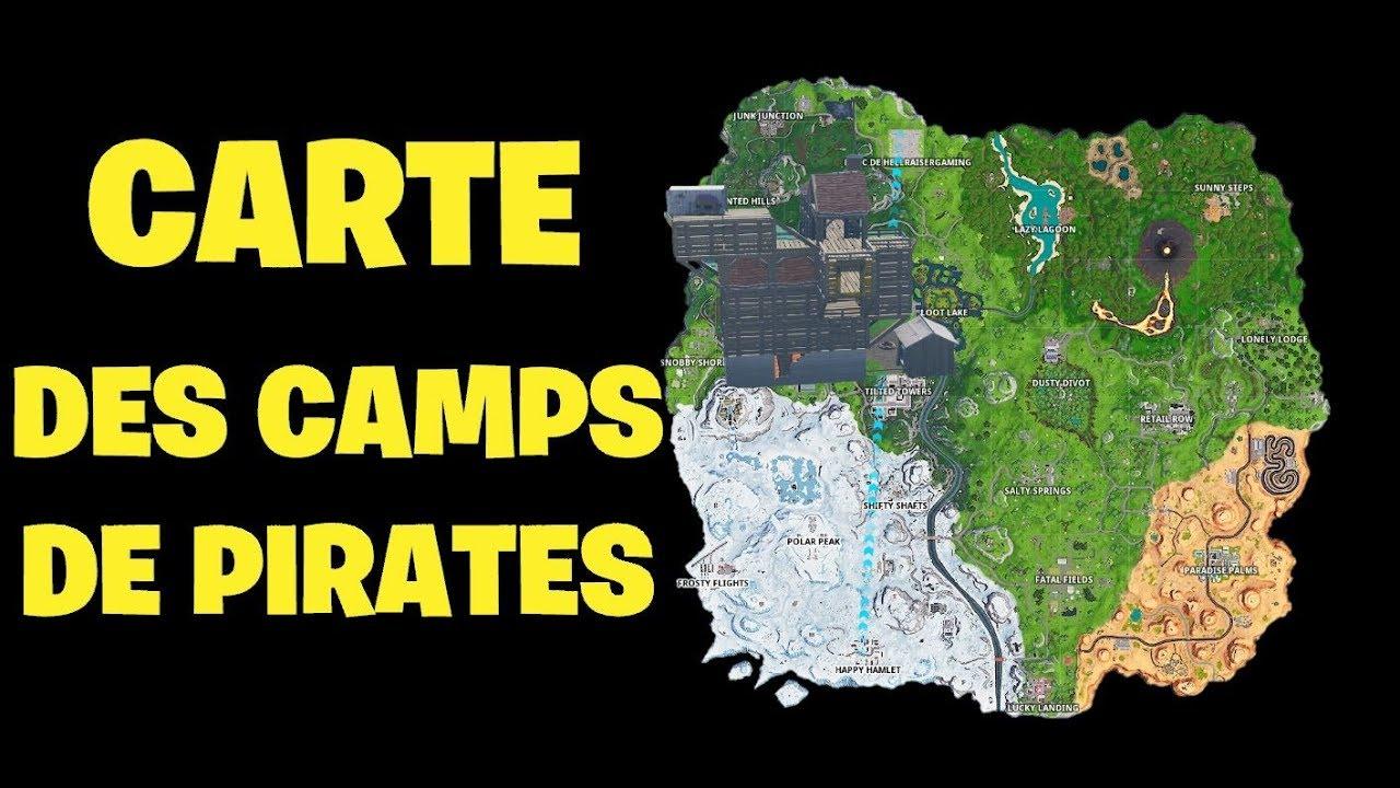 Visiter tous les camps de pirates dans fortnite saison 8