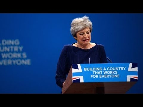 Theresa May's calamitous Conference Speech - compilation