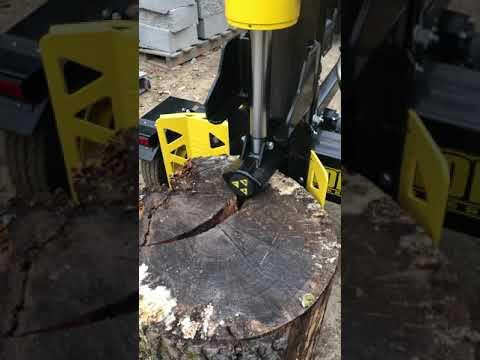 HomesteadJoe Vertical Log Splitting with Champion 34 Ton Splitter