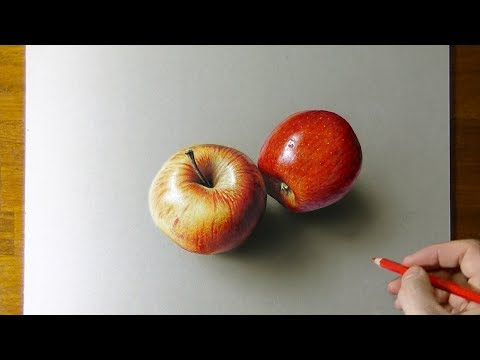 Amazing apples - 3d drawing