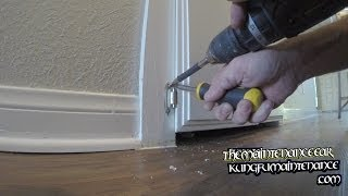 How To Replace Laundry Door Cabinet Closet Hinges In Place Diy Repair Video