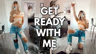 chit chat get ready with me for a girls night in