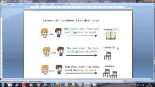 Французский с нуля, Mon, Ton, Son, Mes... СХЕМА
