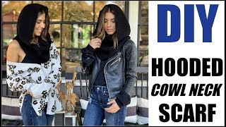 DIY: How to Make a Hooded Scarf!! (OVERSIZED + Kick Ass!)