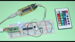 RGB-LED mit iR Fernbedienung und Atmega8 / irmp steuern