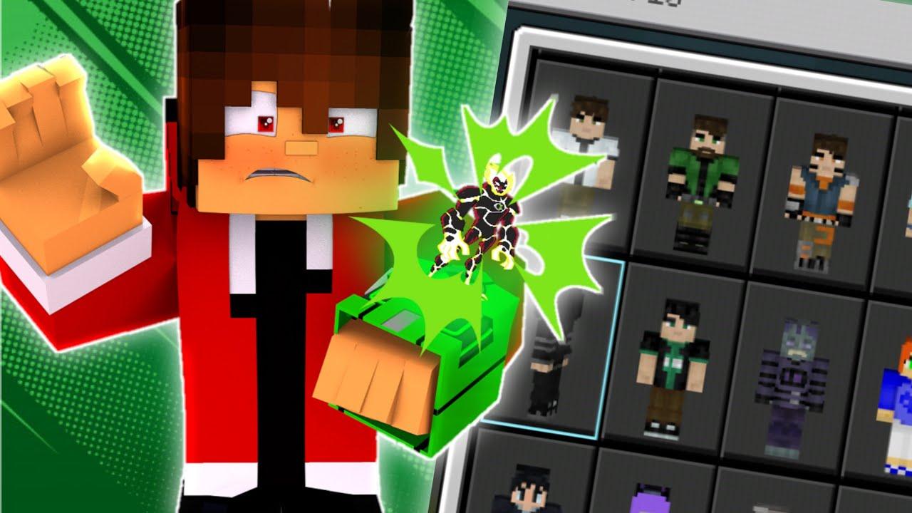 SAIU NOVA SKIN PACK do BEN 11 COM +11 SKINS Para o Minecraft PE