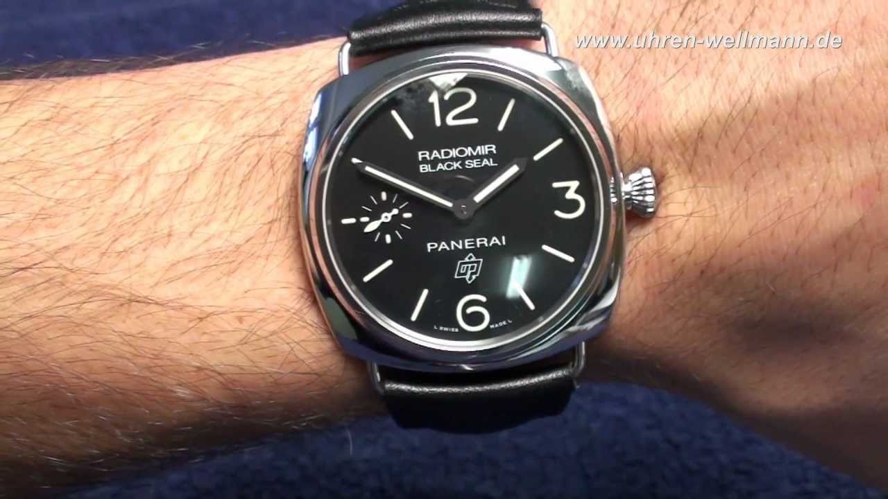 f0b411cba2c8 Panerai Radiomir Black Seal PAM00380 - YouTube