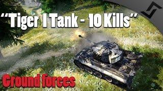 War Thunder Tanks - Tiger I Tank - 10 Kills - Arcade Battles