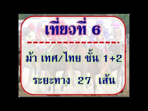 ม้าแข่งสนามเชียงใหม่ วันเสาร์ที่ 27กุมภาพันธ์59