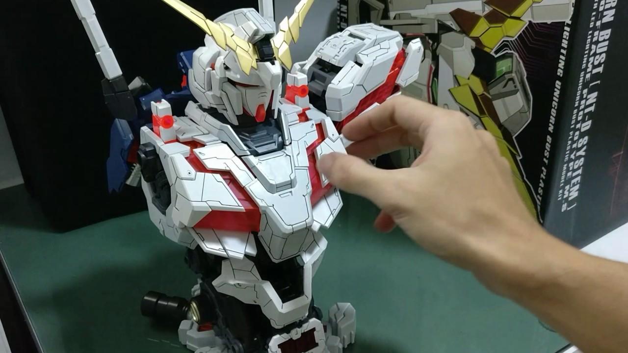 1//35 Scale RX-0 UNICORN GUNDAM Bust Assembled Model LED Light In Box In Stock
