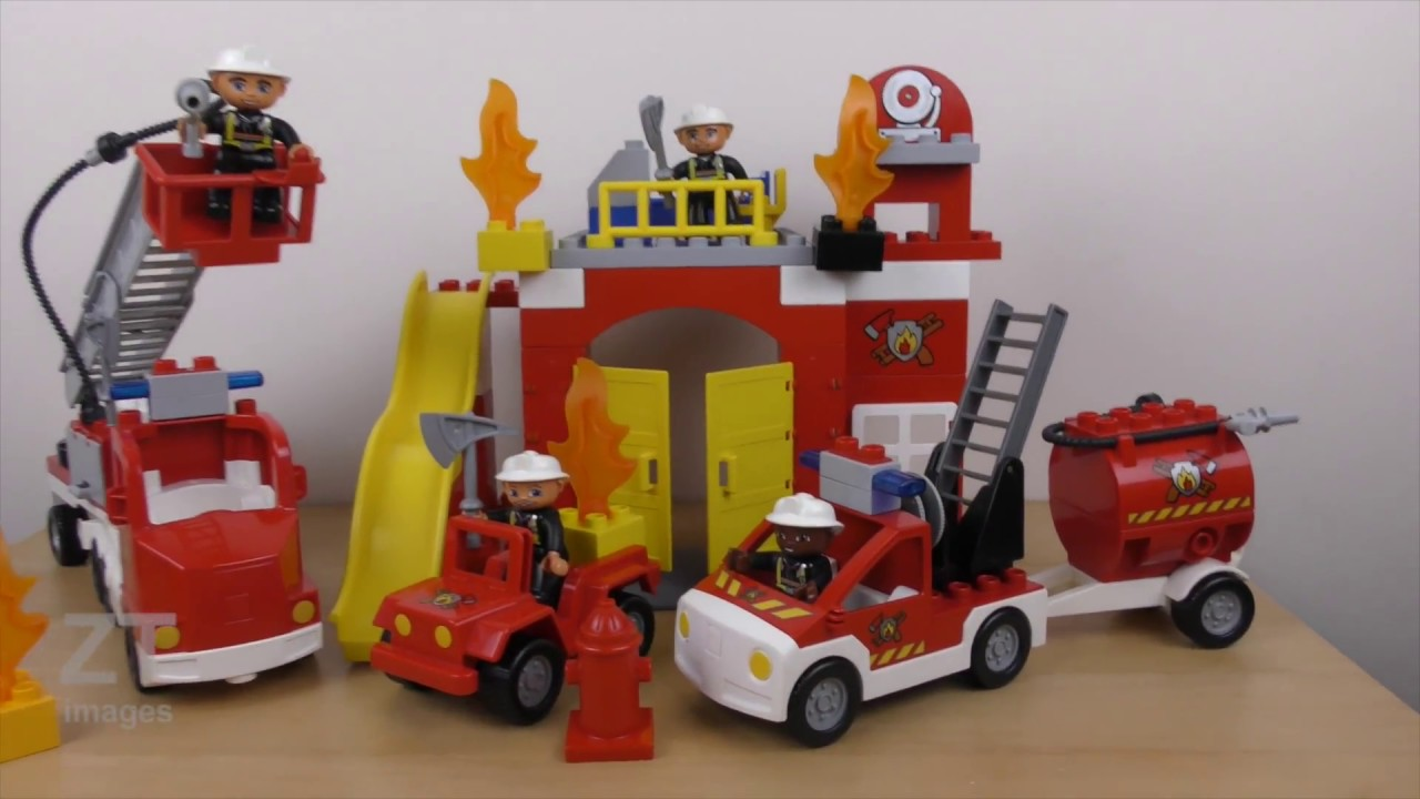 Lego Duplo Fire Station 6168 Truck 6169 Review Build Instruction