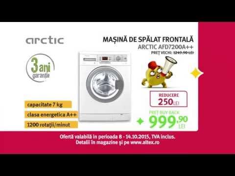 Reclamă ALTEX mașină de spălat ARCTIC - Săptămâna Devoratorilor de Prețuri