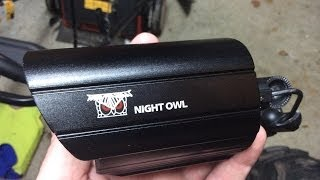 Night Owl DVR and 8 camera security system install.