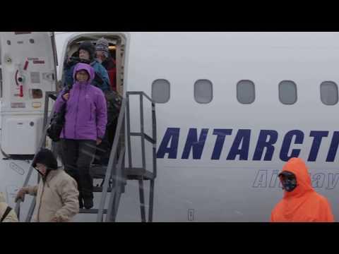 Passengers arriving on King George Island