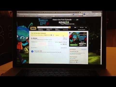 #6 Creating personal lists inside of IMDb.com.