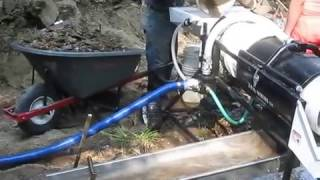 Working A Gravel Bar With My Homemade Portable Gold Trommel Wash Plant