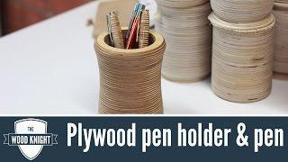 099 - Plywood Penholder & Pen