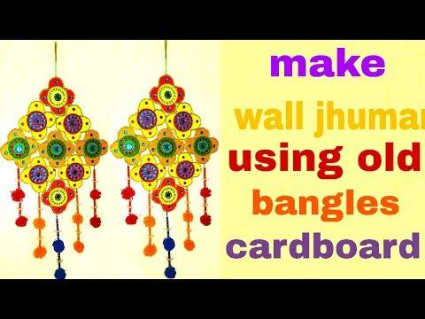 Old bangles Wall hanging craft ideas Unique Wall ShowPiece Idea ...