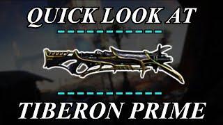 Warframe - Quick Look At: Tiberon Prime (1 Forma)