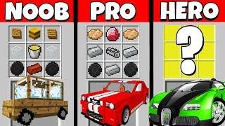 Minecraft Battle: NOOB vs PRO vs HEROBRINE: SUPER CAR CRAFTING CHALLENGE / Animation