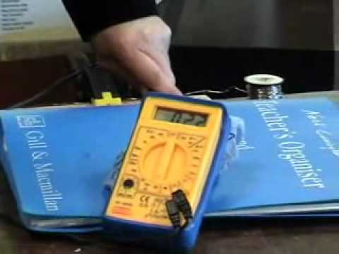 To measure the resistivity of the material in a wire