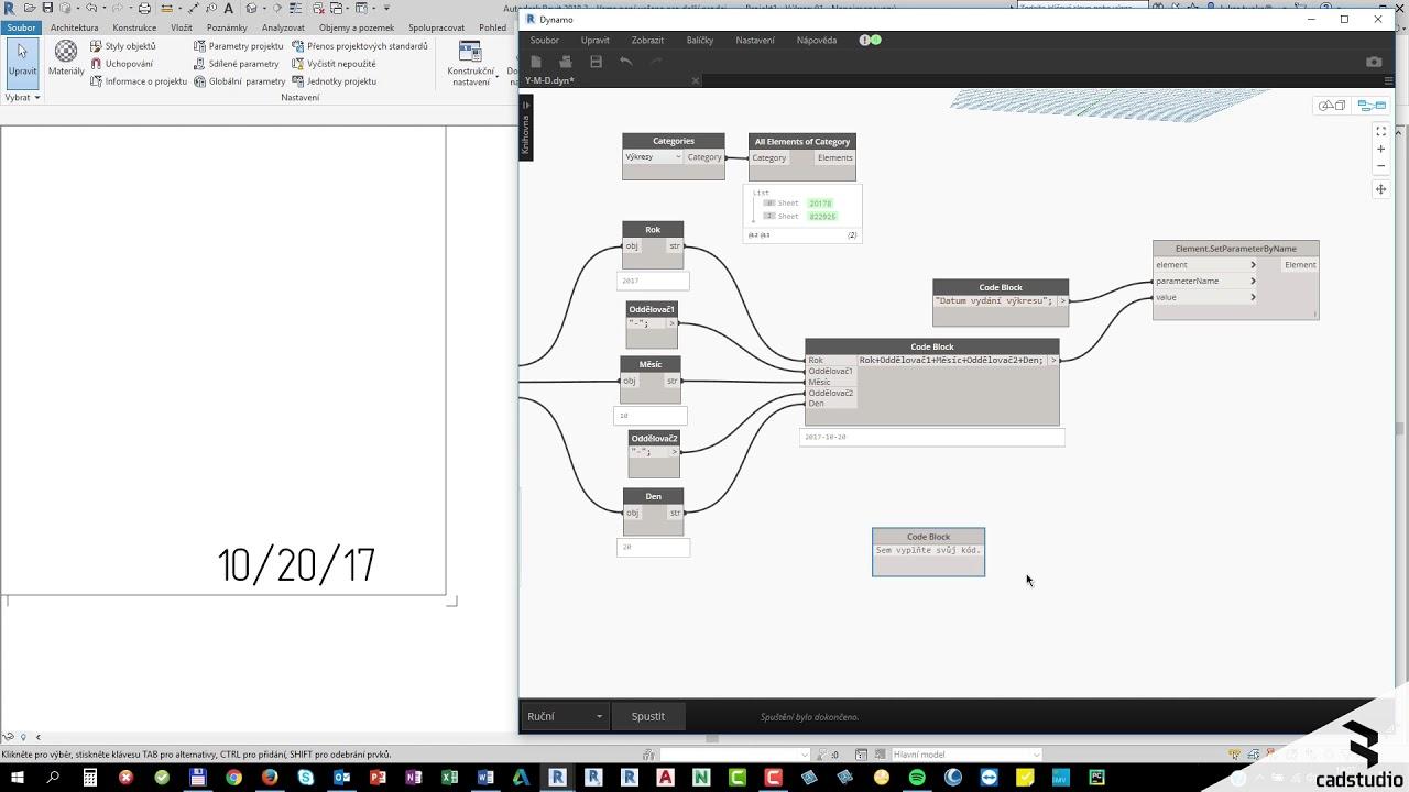 Revit Dynamo Jak Upravit Format Data V Popisce Vykresu Youtube
