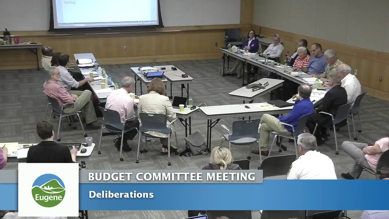 Eugene Budget Committee Meeting: May 24, 2017 - YouTube