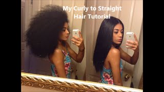 My Curly to Straight Hair Tutorial | jasmeannnn