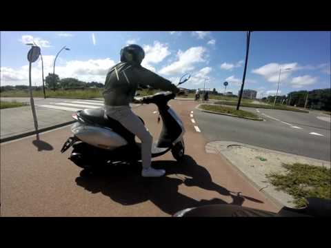 #GoPro scooter cam/ride to ''Hoek van Holland'' Beach - Rotterdam