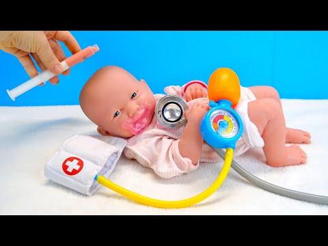 Кукла Реборн Диана Не Хочет Пить Лекарство Как Мама и Беби Бон Эмили Играли Мультик для детей