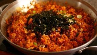 الكيمتشي الأرز المقلي: 김치볶음밥