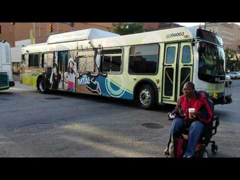 MTA MARYLAND:Morning Rush Hour Service@Eutaw&Saratoga Streets