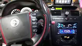 렉스턴2 차량 소니 오디오 데크 교체 장착 핸들리모컨
