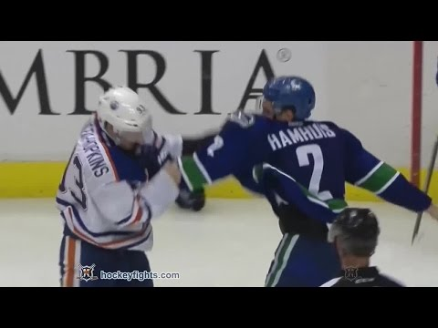 Ryan Nugent-Hopkins vs Dan Hamhuis Oct 11, 2014