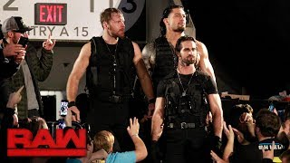 the shield make their entrance together for the first time in three years raw oct 16 2017