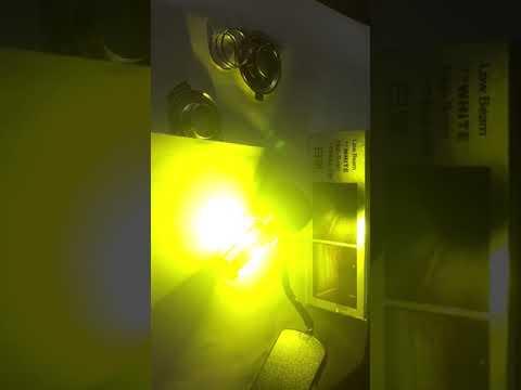 Test đèn Pha Led Xe Máy A03 Pha ánh Sáng Vàng, Cos ánh Sáng Trắng