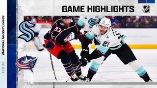 Kraken @ Blue Jackets 10/16/21 | NHL Highlights