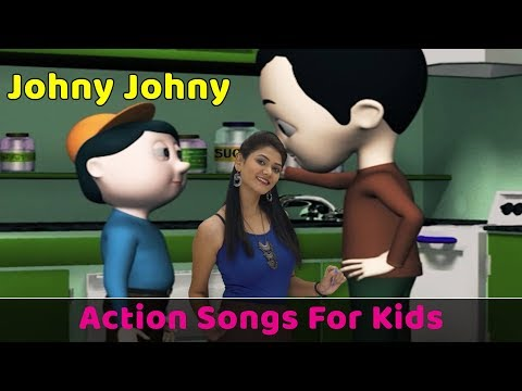 Johny Johny Yes Papa Song | Action Songs For Kids | Nursery Rhymes With Actions | Baby Rhymes