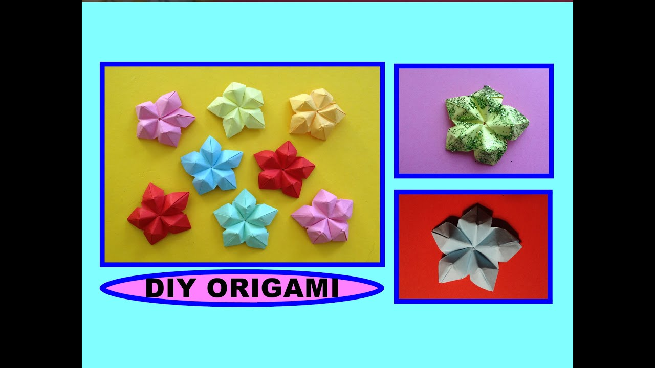 Papercraft DIY ORIGAMI FLOWER, QUICK & EASY GIFT GUIDE FOR FRIENDS & FAMILY, SIMPLE IDEAS, BLUME ANLEITUNG