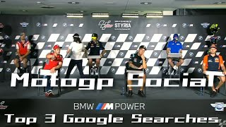 MotoGP Social Top 3 Google searches 2020