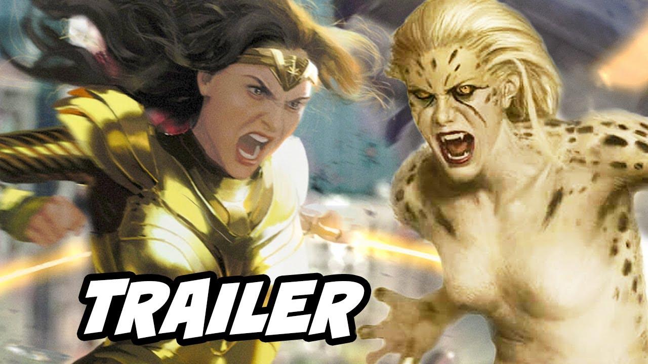 Wonder Woman 1984 Trailer 2020 - New Wonder Woman Cheetah Scene Breakdown and Easter Eggs