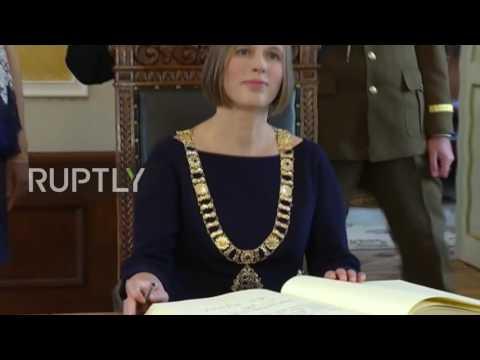 Estonia: Kersti Kaljulaid becomes Estonia's first female president