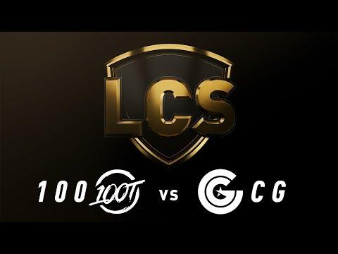 100 Vs. CG - Week 3 Day 1 | LCS Spring Split | 100 Thieves Vs. Clutch Gaming Gaming (2019)