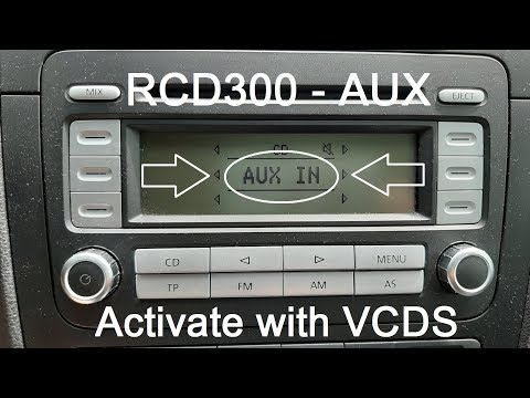 VCDS - RCD300 - Activate AUX Function
