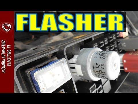 EL FLASHER y circuito electrico basico de direccionales